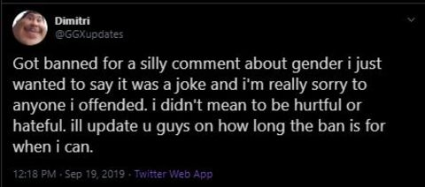 Greekgodx apologizes for his racy comment on live stream.
