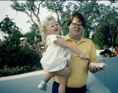 Ashley Fink during her childhood with her father