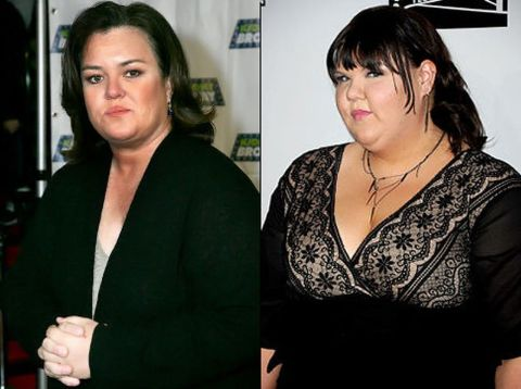 A Collage of Rosie O'Donnell (left) and Ashley Fink (right)