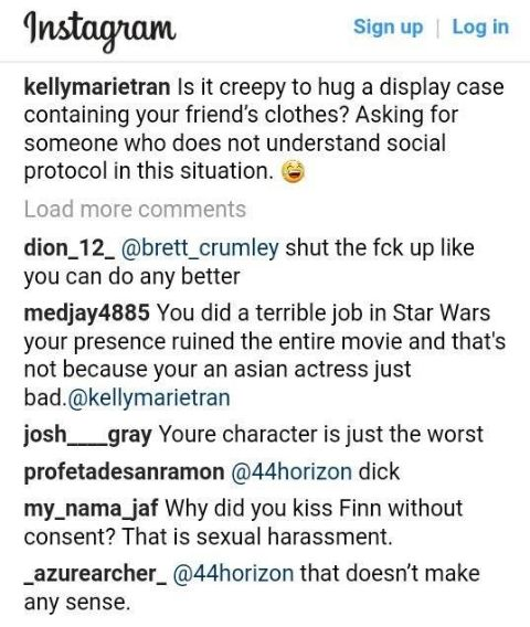 Kelly Marie Tran was abused online so she had to delete her IG posts.
