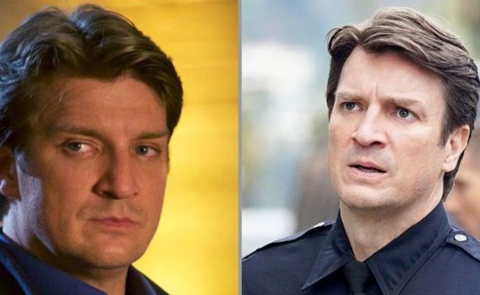 Nathan Fillion's before and after weight loss.