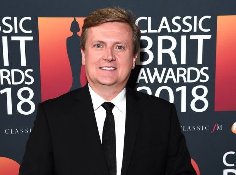 Aled Jones at the Classic Brit Awards 2018.
