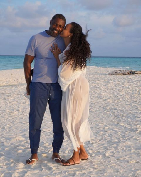 Sabrina Dhowre Elba walked down the aisle with her lover, Idris Elba.