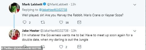 Makr Labbett asked Jake Hester who he was through his Twitter.