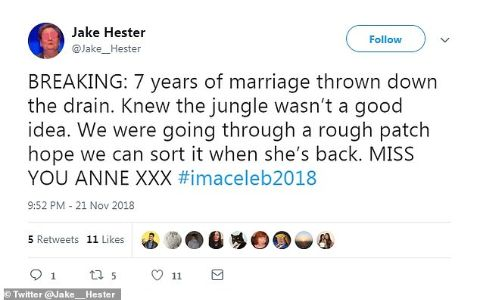Jake Hester says his marriage with Anne went down in vain.