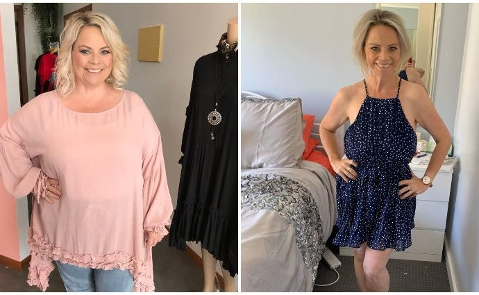 Jo McPharlin before and after her weight loss journey.