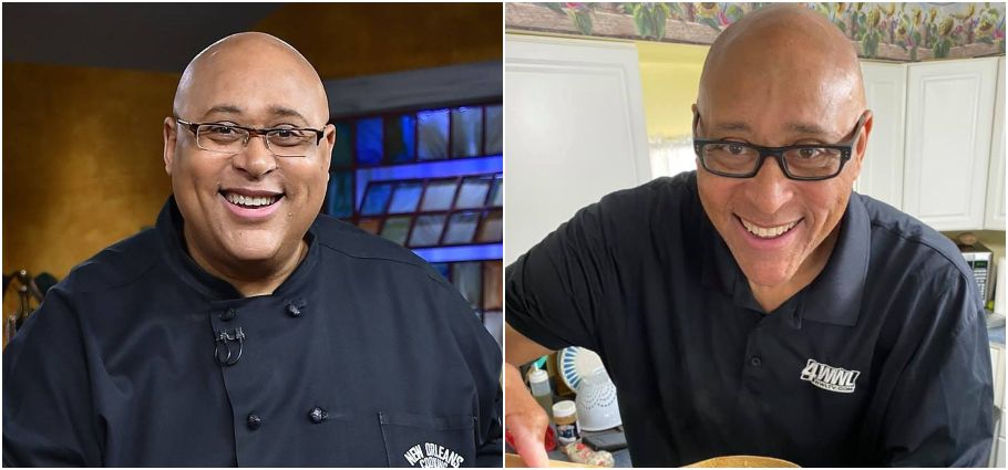 Kevin Belton before and after weight loss.