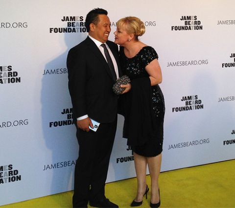 Dr. Edward Ines and wife Sherry Yard attend James Beard Award.
