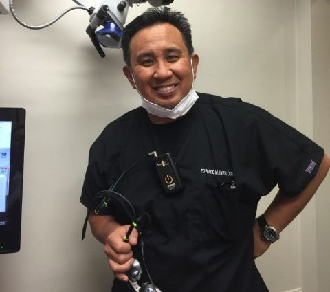 Sherry Yard's Husband Dr. Edward Ines at his Private Clinic.