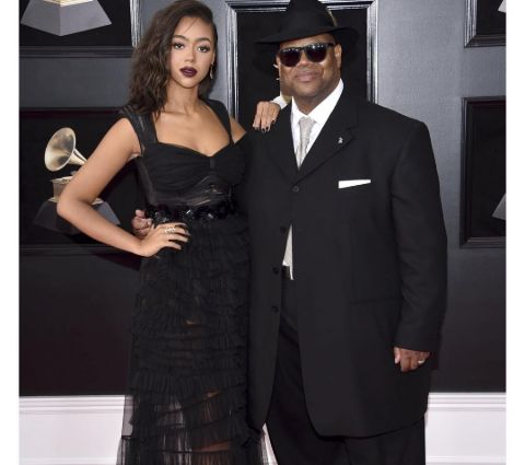 Jimmy Jam and his daughter, Bella Harris.