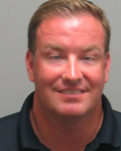 Dan McLaughlin's Mugshot in Chesterfield Police Station after DUI.