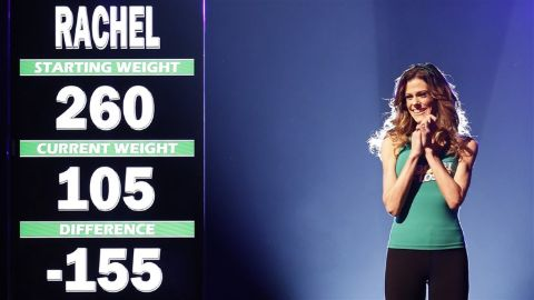 Rachel Frederickson lost 155 lbs of body fat by the end of the show.