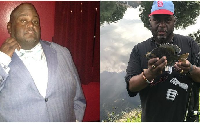 Lavell Crawford' body transformation before and after weight loss.