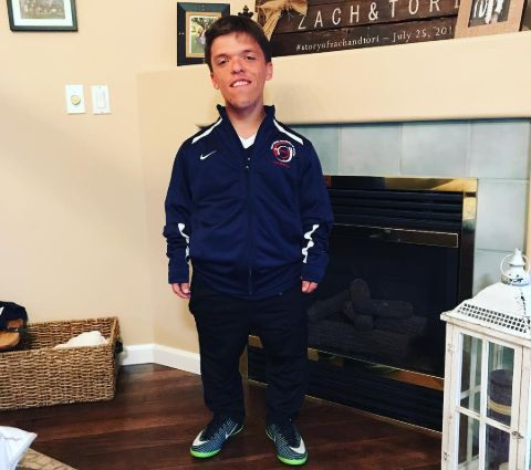 Zach Roloff when he received his dwarf games jersey.