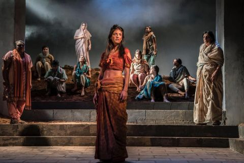 Anya Chalotra in The Village play in 2018.
