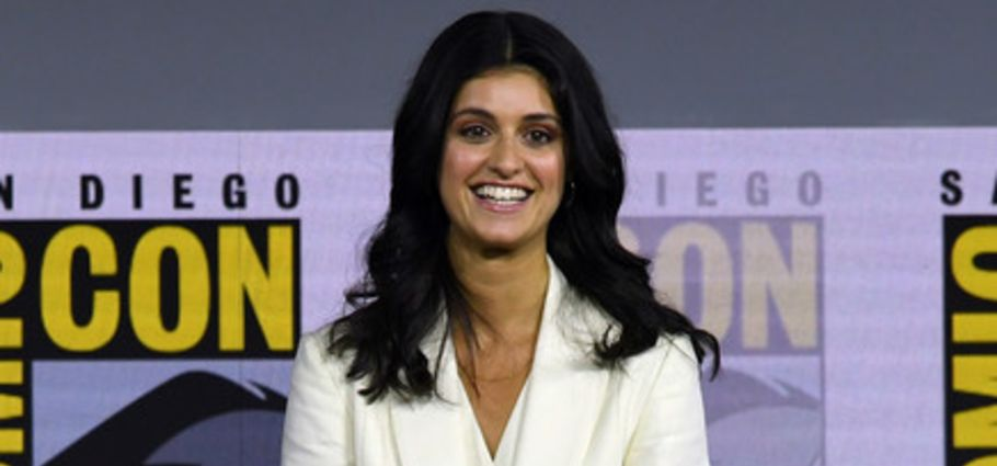 Anya Chalotra speaks about The Witcher at the 2019 Comic Con at San Diego Convention Center.