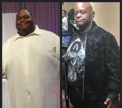 Lavell Crawford' before and after weight loss.