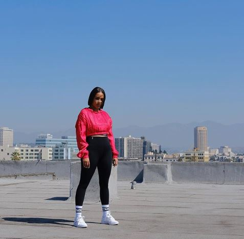 Lauren London during a photoshoot for the brand, Puma on 11 December 2019.