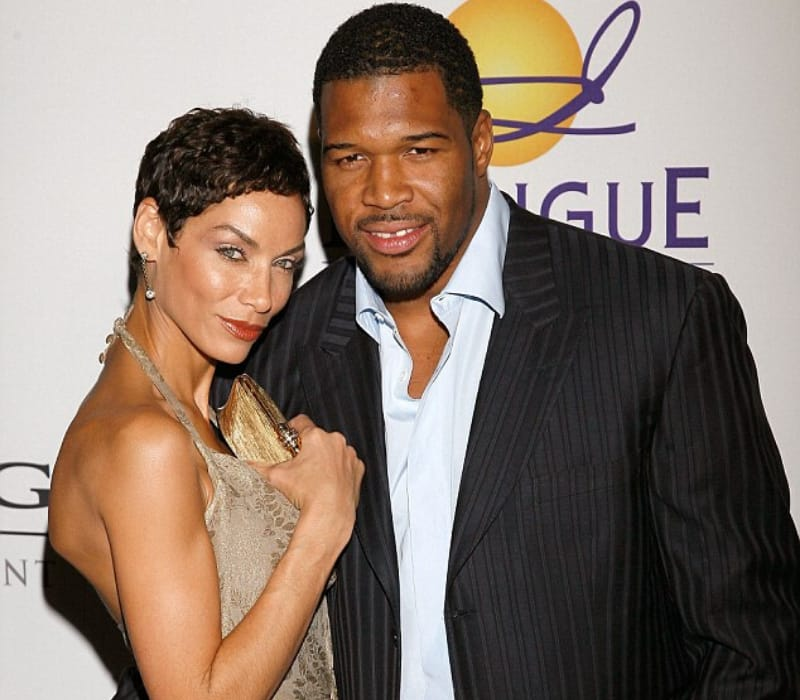 Wanda Hutchins with Michael Strahan at an event.