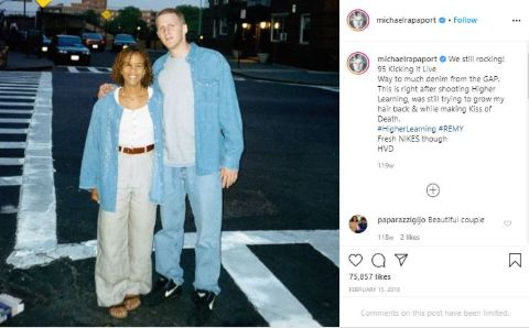An old photo of Kebe Dunn and husband Michael Rapaport.