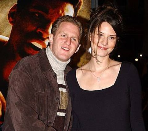 Michael Rapaport with his former wife Nicole Beattie at a Hollywood premiere.