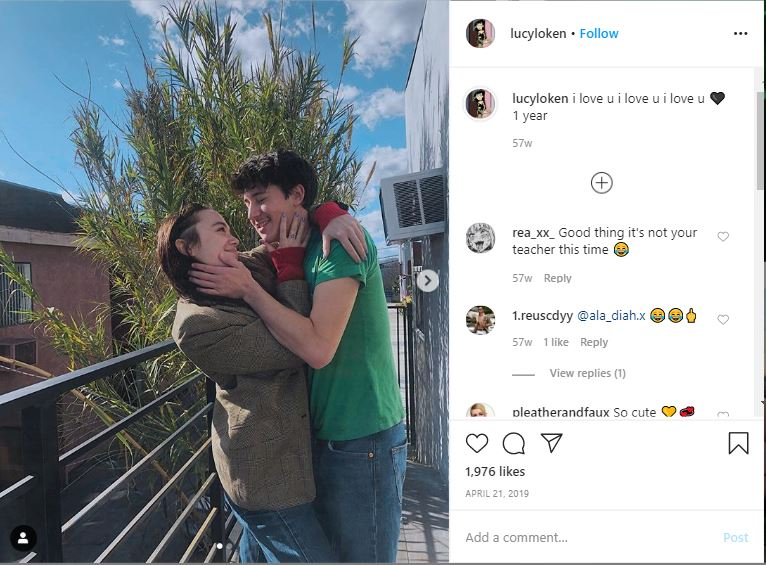 Lucy Loken shows off her dating relationship on her Instagram.