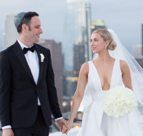 Noah Galuten and Iliza Shlesinger on their wedding day.