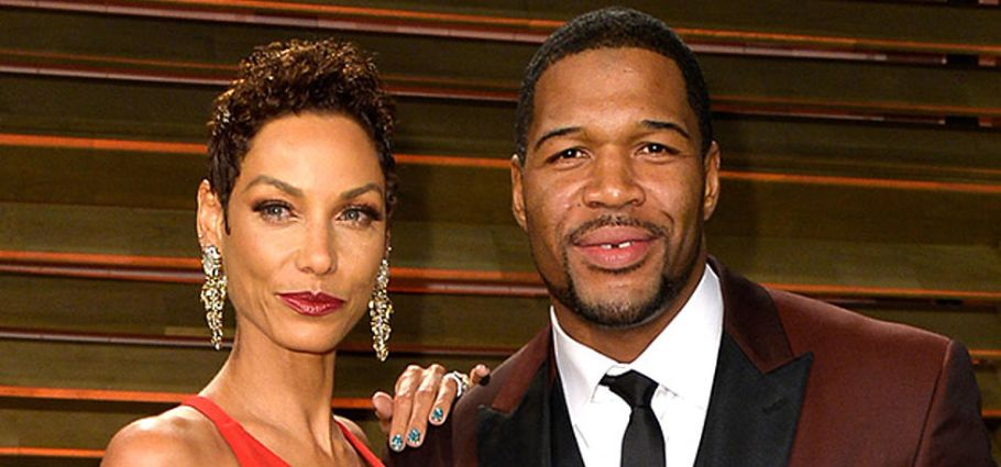 Wanda Hutchins with ex Michael Strahan.