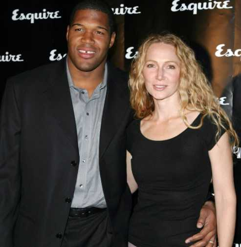 Jean Muggli with her former husband, Michael Strahan.
