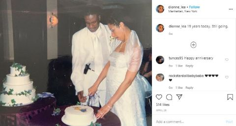 Dionne Lea Williams wishes her partner a 19th wedding anniversary.