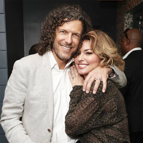 Shania Twain with her now husband, Frederic Thiebaud.