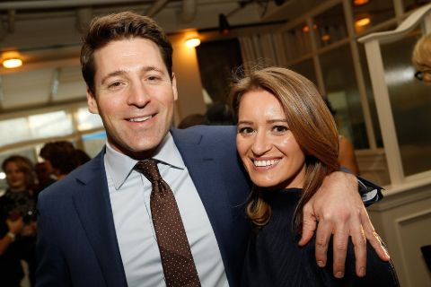 Katy Tur with husband Tony Dokoupil.