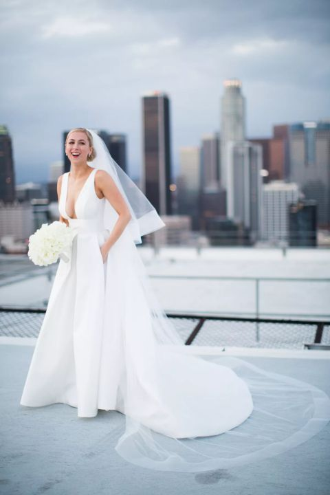 Iliza Shlesinger wedding day picture.