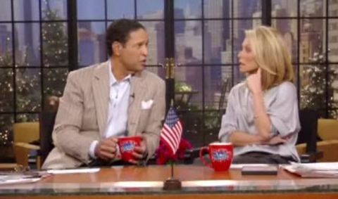 Bryant Gumbel talking in Live with Regis and Kelly.