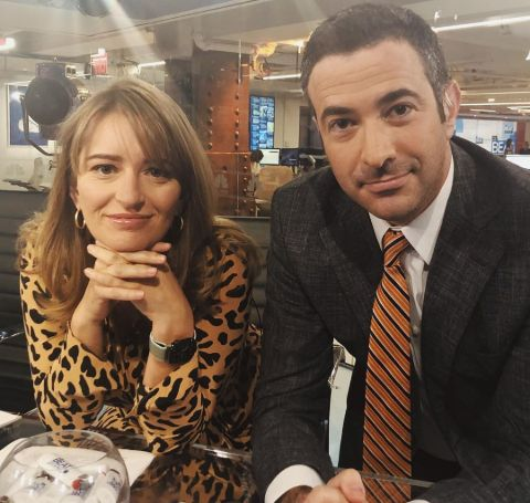 Katy Tur with her co-host Ari Melber.
