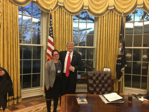 Maggie Haberman with President Trump.