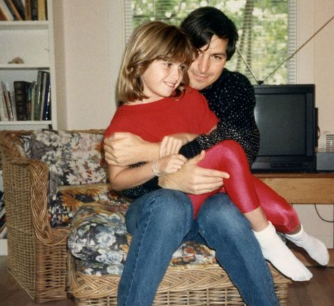 Steve Jobs with his first daughter Lisa.