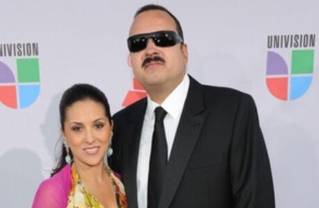 Singer Pepe Aguilar (R) arrives at the 11th annual Latin GRAMMY Awards at the Mandalay Bay Resort & Casino on November 11, 2010 in Las Vegas, Nevada.
