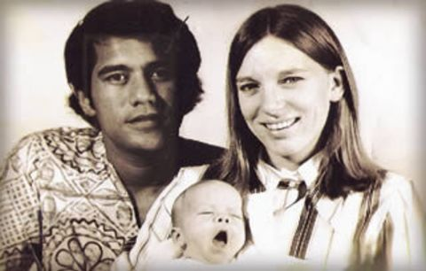 Mike and Carol Porter Gabbard with first son Bhakti.