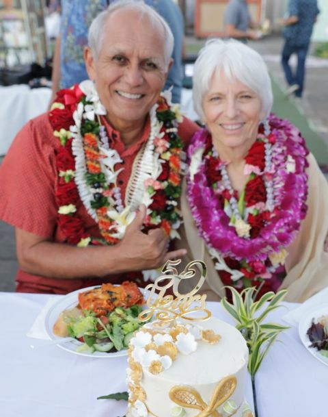 Carol Porter and Mike Gabbard's 52nd marriage anniversary.