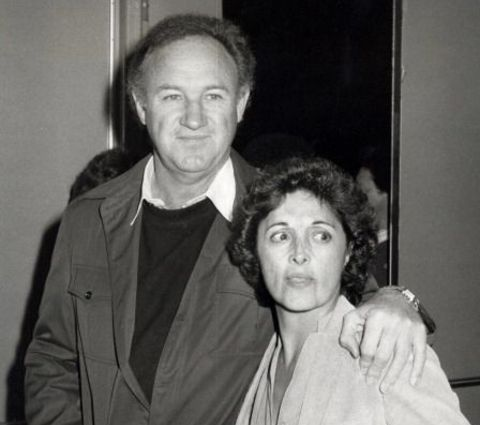 Gene Hackman with his first wife, Faye Maltese.