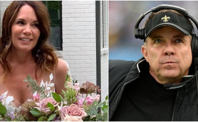 Beth Shuey and Sean Payton collage.