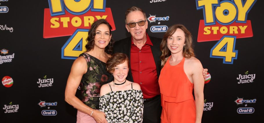 (L-R) Jane Hajduk, Tim Allen, and family attend the world premiere of Disney and Pixar's TOY STORY 4 at the El Capitan Theatre in Hollywood, CA on Tuesday, June 11, 2019.