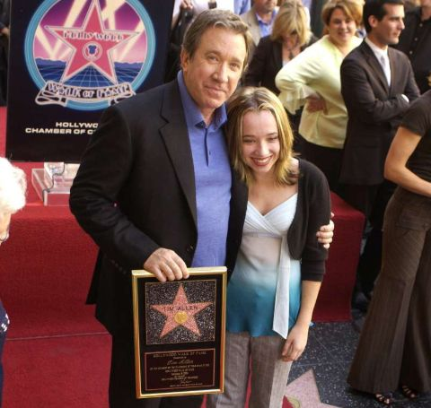 Tim Allen and Katherine Kady Allen at Tim's Hollywood Walk of Fame.