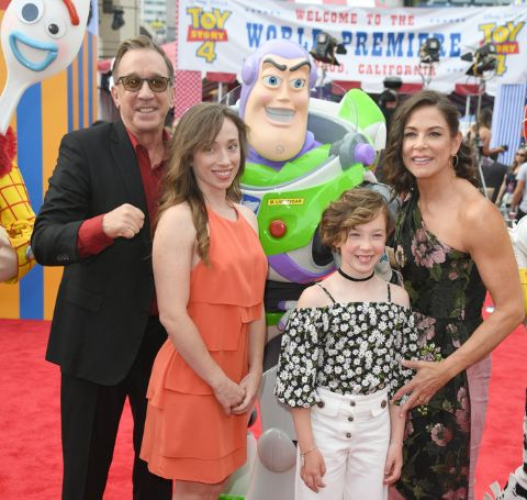 "Tim Allen and family attend the premiere of Disney and Pixar's ""Toy Story 4"" on June 11, 2019 in Los Angeles, California."
