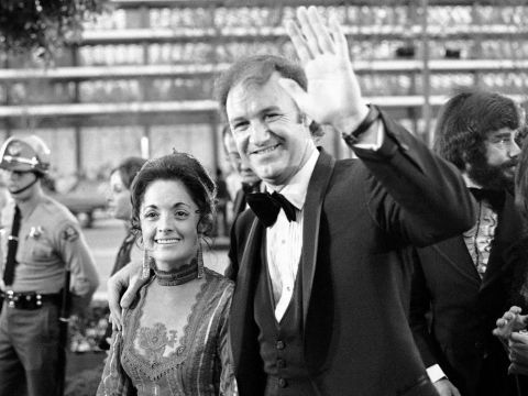 Gene Hackman with his first wife, Faye Maltese at the 1972 Oscars.