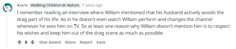 Fans' answer on Willam Belli's relationship.