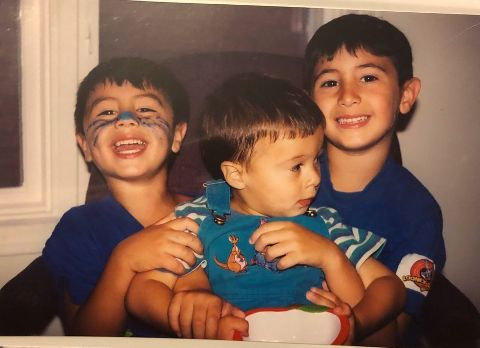 Damian Romeo and his brothers.