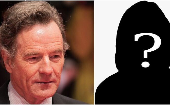Bryan Cranston and a silhouette of a woman.