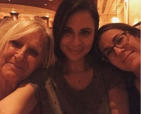 A selfie containing Catherine Bell, Brooke Daniells, and Penny Atwell.